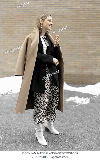 fashionable woman, in Munich, Germany