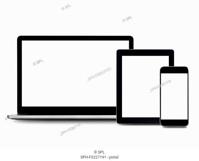 Blank digital device screens