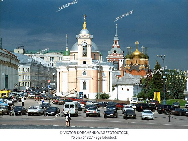 Ancient churches on Varvarka street in Moscow