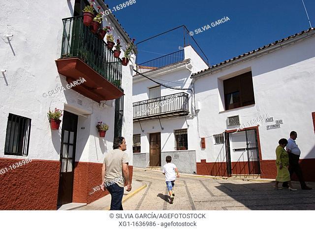 Street of Jabugo, Huelva, Andalucia, Spain, Europe