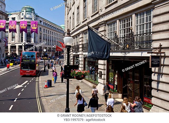 Shops, Regent Street, London, England