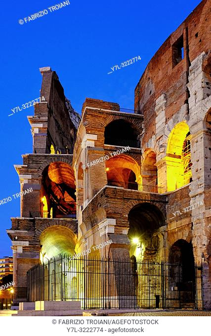 Detail of the Colosseum, Rome, Italy