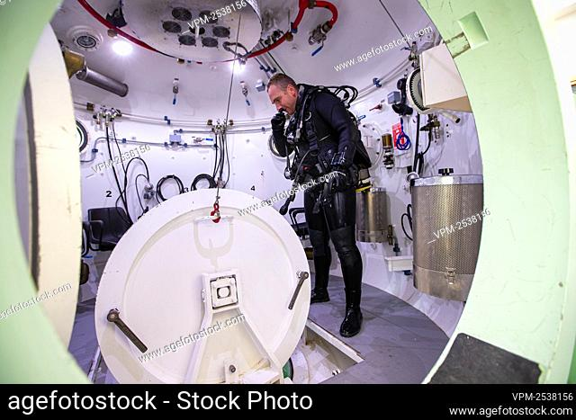 Illustration shows the military diving school at the Zeebrugge naval base, Friday 04 September 2020. BELGA PHOTO KURT DESPLENTER