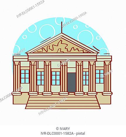 Illustration of Supreme Court building, Washington D.C