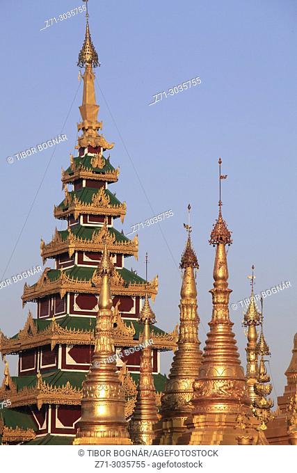 Myanmar, Yangon, Shwedagon Pagoda,