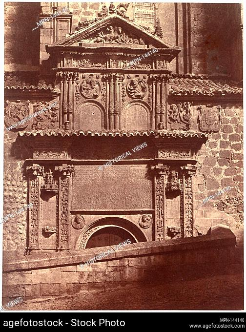 Portal of the Convent of Sancti Spiritu, Salamanca. Artist: Charles Clifford (Welsh, 1819-1863); Date: 1853; Medium: Albumen silver print from paper negative;...