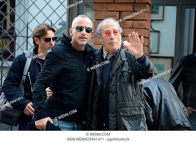 Eros Ramazzotti celebrates his birthday in Milan Featuring: Eros Ramazzotti, Rodolfo Ramazzotti Where: Milan, Italy When: 28 Oct 2016 Credit: WENN.com