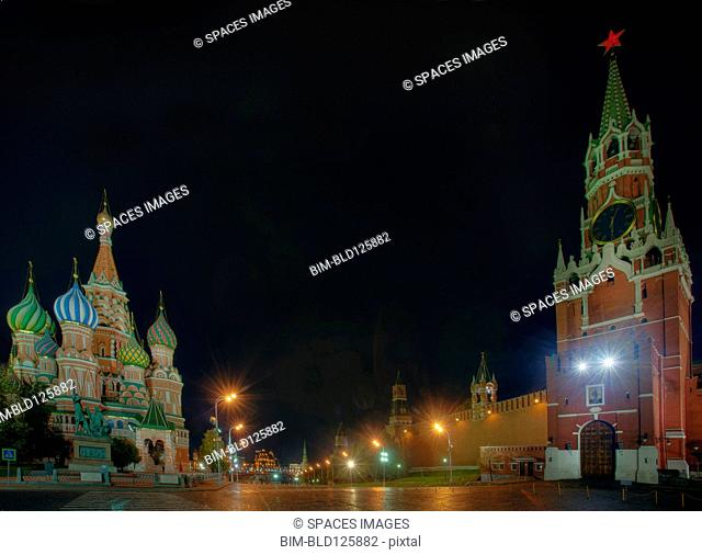 Kremlin, Saint Basil's Cathedral and Red Square, Moscow, Russia