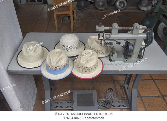 Scenes from a Panama hat (paja toquilla) factory in Cuenca, Ecuador