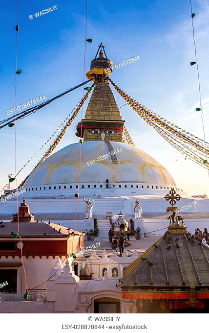 Buddhist stupa - Buddhist place of worship in the Nepal