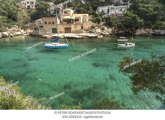 fishing village at Cala Figuera bay, Majorca, Balearic Islands, Spain,