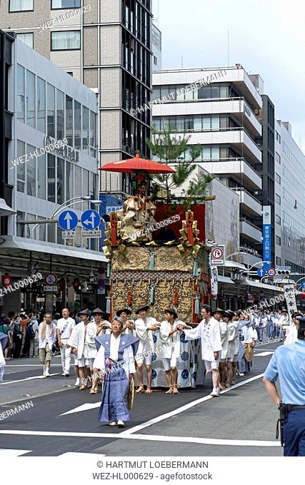 Japan, Kyoto, Gion Matsuri Festival, Yama parade float