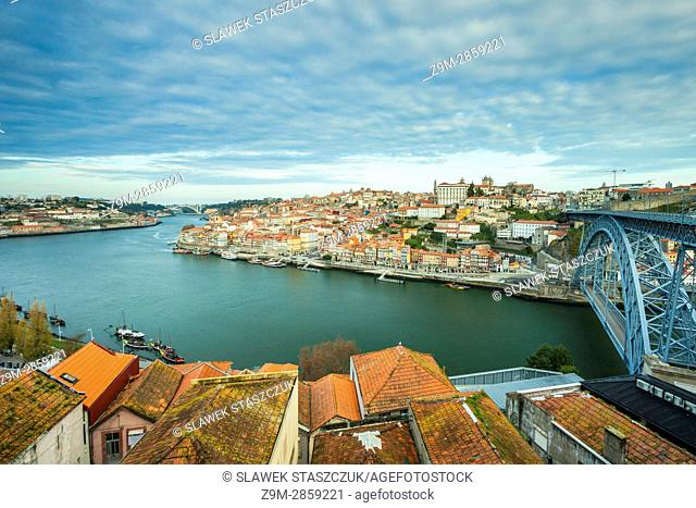 Panorama of Porto Portugal