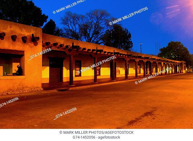 Palace of the Governor's,Night Scene, Santa Fe, New Mexico, USA