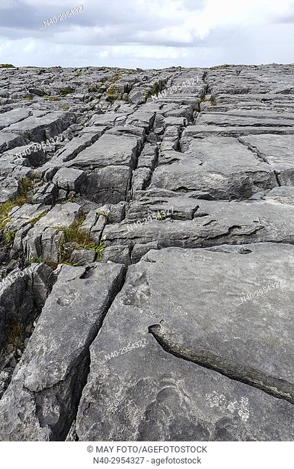 Fanore cliffs, Burren region, Ireland, Europe