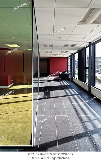 Reception area and office in commercial office space, Lower Camden Street, Dublin 2, Ireland