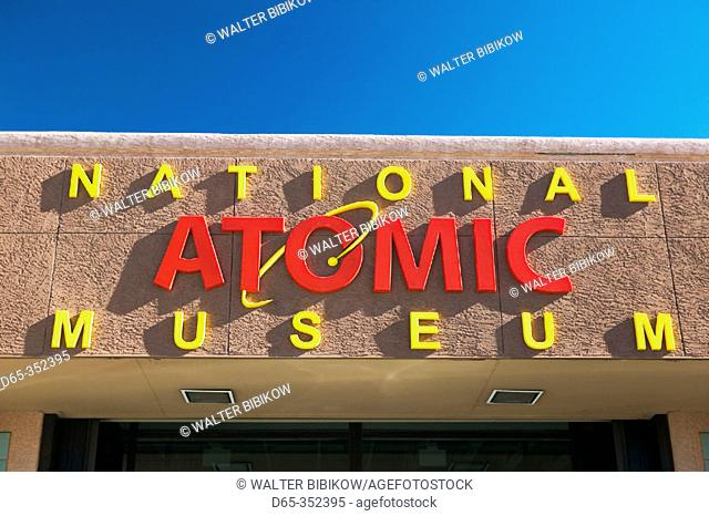National Atomic Museum sign. Albuquerque. New Mexico, USA