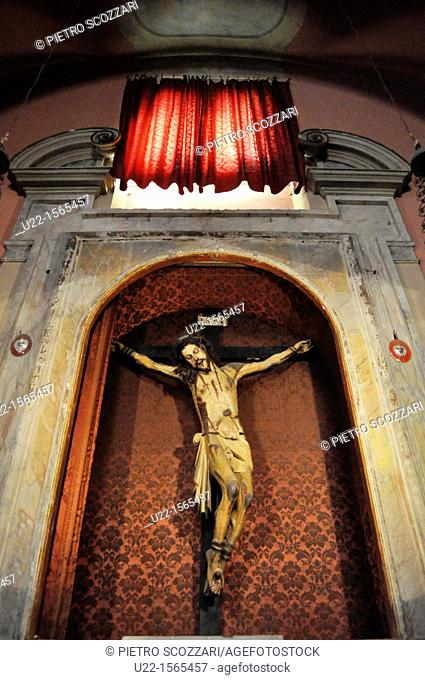 Gradara (Pesaro-Urbino, Italy): crucifix of San Giovanni Battista's Church