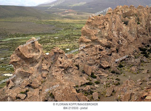 Pre-Inka graveyard and ritual place, Uyuni Highlands, Bolivia
