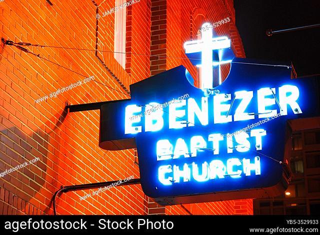 The Ebenezer Baptist Church in Atlanta, where Martin Luther King began the civil rights movement