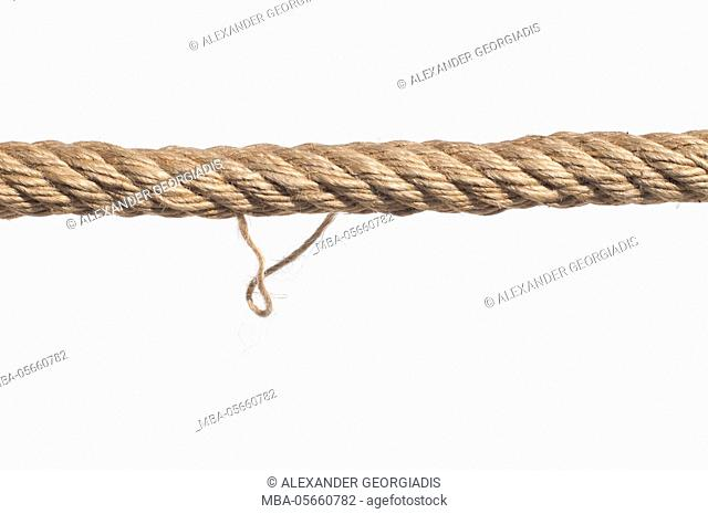 Rope with a unthreated rope of hemp