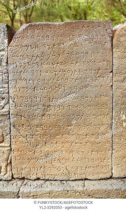 Pictures & images of the North Gate ancient Hittite stele stone slabs with carvings of the Phoenician language known as the Karatepe bilingual