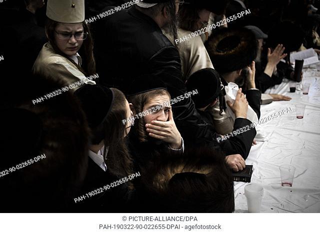 ULTRA ORTHODOX JEWS CELEBRATE PURIM IN JERUSALEM (3/21/2019