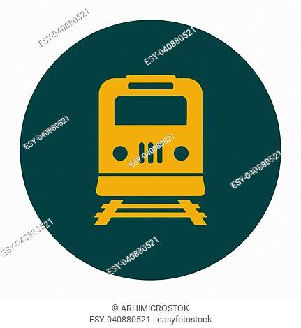 Train icon. Metro symbol. Railway station sign
