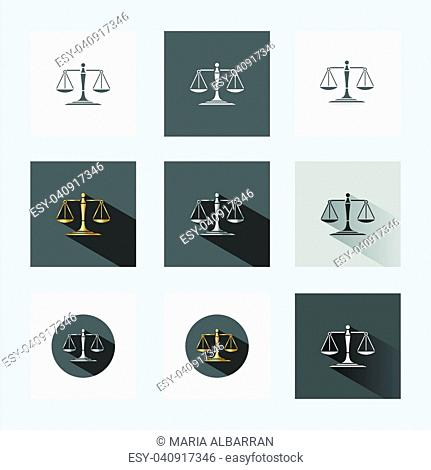 Scales of justice in different versions