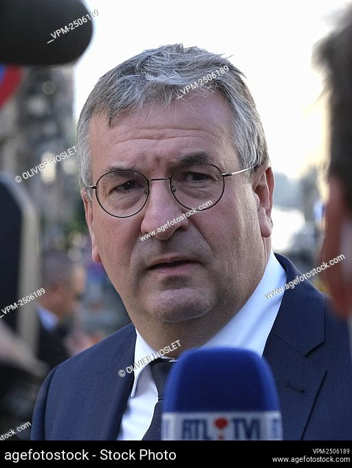 Federation Wallonia - Brussels Minister President Pierre-Yves Jeholet arrives for a meeting of the National Safety Council