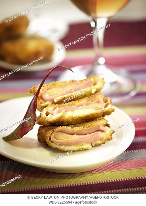 frito de jamon york con queso emmental / fried ham with emmental cheese