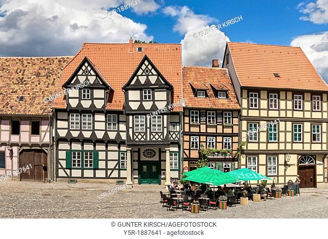 Cafe Vincent Schlossberg 13, here there are over 130 varieties of cheese cake To the left is the birthplace of the poet Friedrich Gottlieb Klopstock The house...