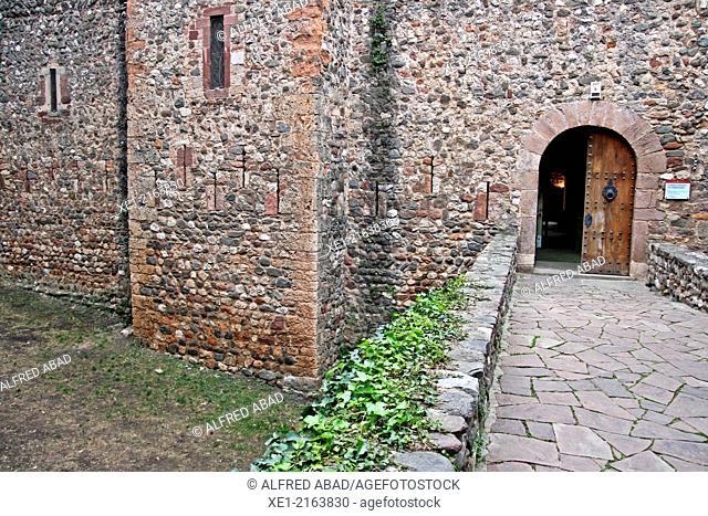 Entrance to the castle and charterhouse of Vallparadis, Terrassa, Catalonia, Spain