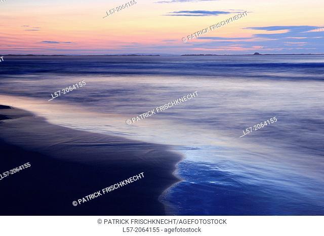 Bamburgh coastline, great britain