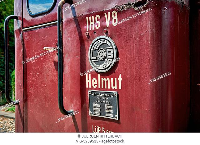 GERMANY, GANGELT, 08.07.2017, Selfkantbahn, Historical narrow-gauge railway, Schierwaldenrath, Heinsberg, North Rhine-Westphalia, Germany - Gangelt, Germany