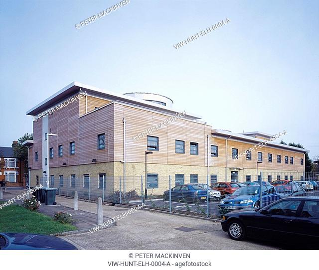 EAST LONDON HEALTH CENTRE, CHURCH ROAD, LONDON, E10 LEYTON, UK, HUNTER & PARTNERS LTD, EXTERIOR, EXTERIOR - VIEW FRO M SOUTH WEST