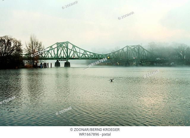 Glienicker bridge fog