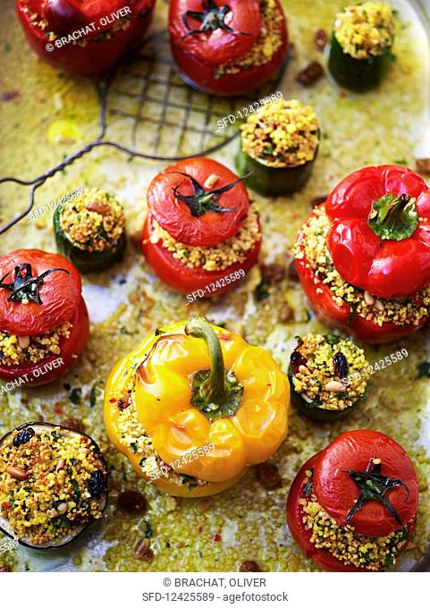 Stuffed summer vegetables