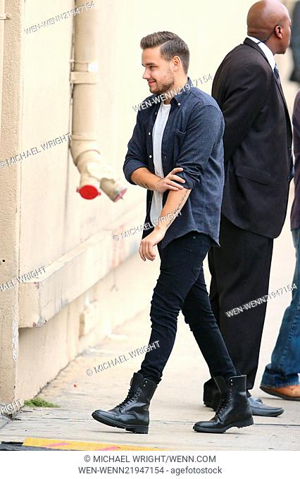 Boy band 'One Direction' at ABC studios for late-night talk show 'Jimmy Kimmel Live!' Featuring: Liam Payne Where: Los Angeles, California