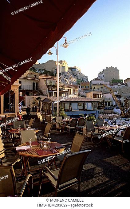 France, Bouches du Rhone, Marseille, the Corniche, Vallon des Auffes