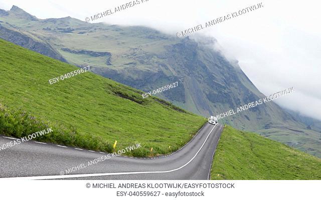 Roads in iceland - Road through the vast Icelandic landscape