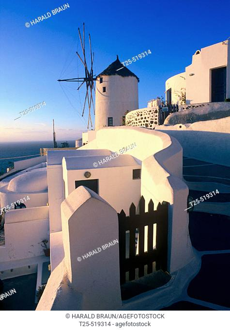 Windmill in Oia, Santorini, Cyclades, Greece