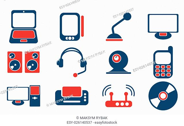 Media simply symbols for web and user interface