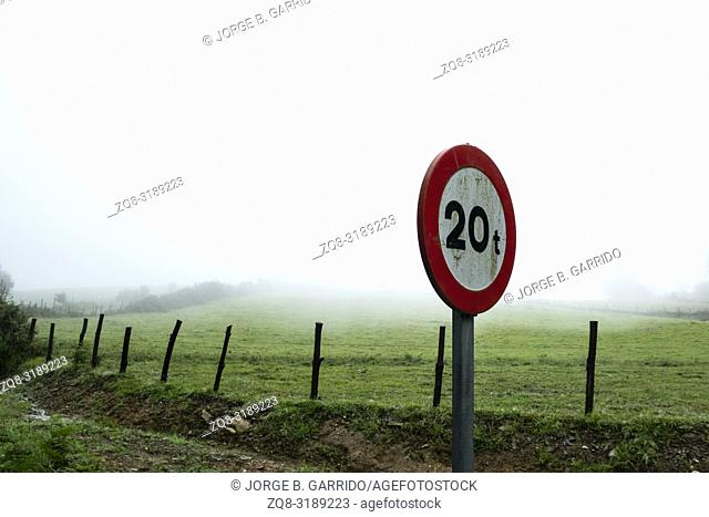 Signals on the way to Taramundi, Asturias, Spain