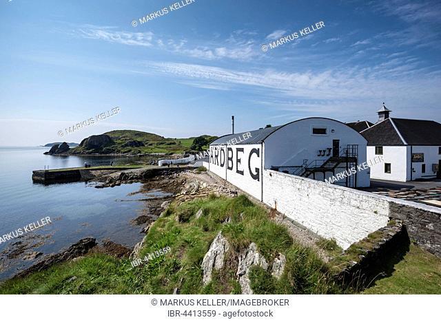 Ardbeg whiskey distillery, storehouse, Islay, Inner Hebrides, Scotland, United Kingdom