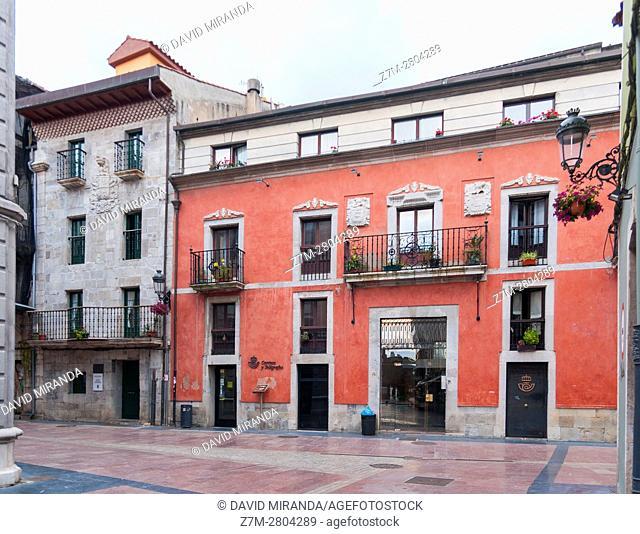 Palacio de los Prieto, Ribadesella village, Asturias, Spain. Historical Heritage Site