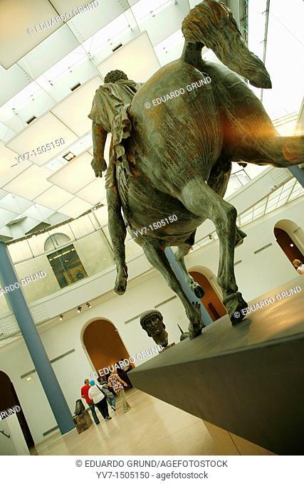 Capitoline Museum  Equestrian statue of Marco Aurelio  Rome, Lacio, Italy, Europe