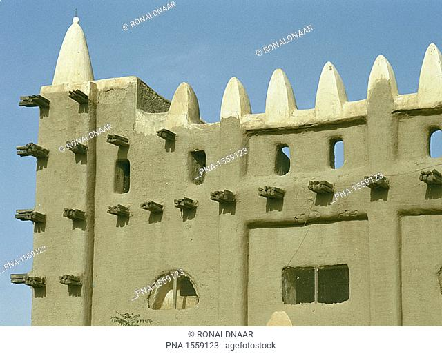 The large mosque of Mopti, Mali  Western Africa