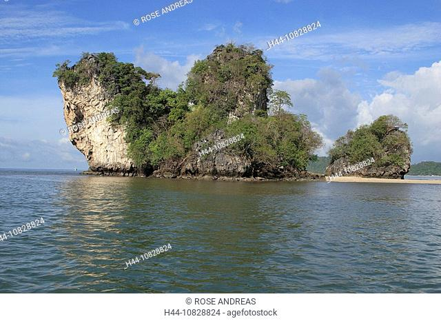 Asia, South-East Asia, Thailand, Asia, South Thailand, Asia, Phangnga, Phang Nga bay, Bamboo Island, coast, sea, scene