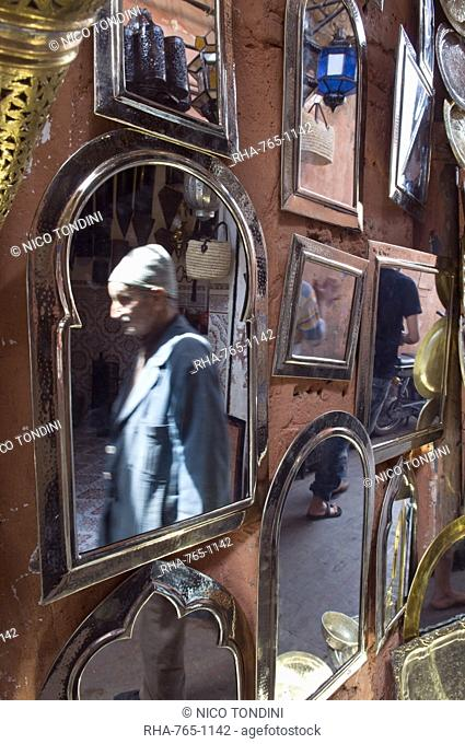 Frames for sale, Souk in the Medina, Marrakech, Morocco, North Africa, Africa